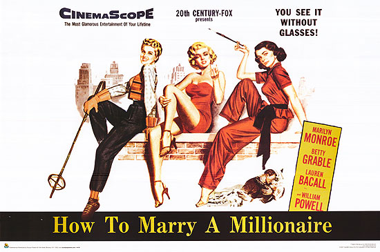 [ HOW TO MARRY A MILLIONAIRE POSTER ]